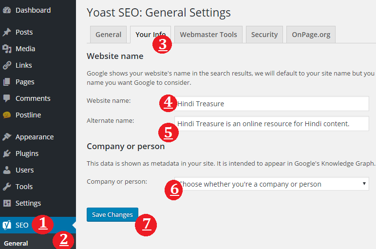 Yoast-general-setting